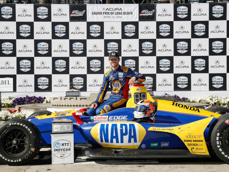 Rossi triumphed at the classic Long Beach circuit