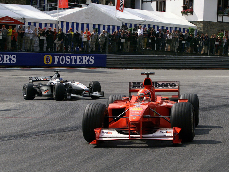 Schumacher and Hakkinen famously scrapped in 2000