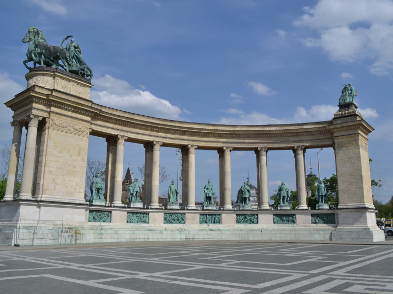 Heroes' Square is at the end of Andrassy Utca