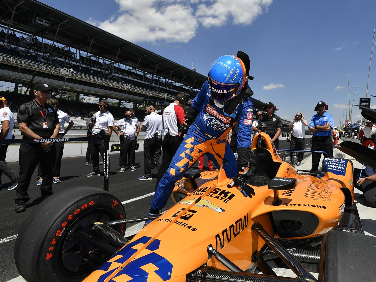 Alonso failed to qualify for the Indy 500 by only 0.015mph