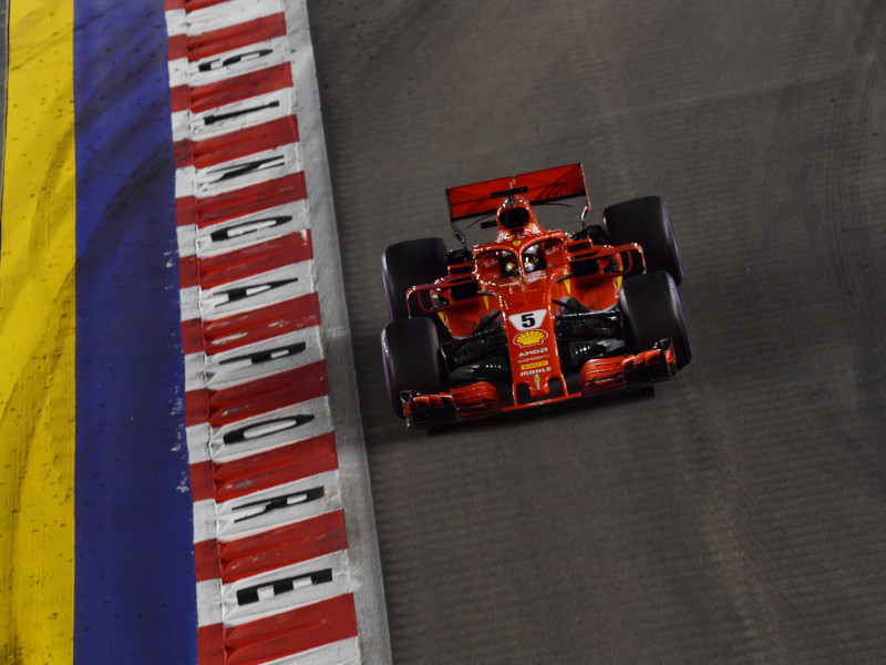 Formula 1 cars race around the 23-turn circuit