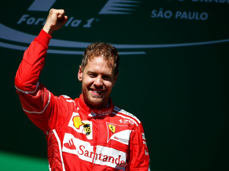 Vettel won for Ferrari in 2017