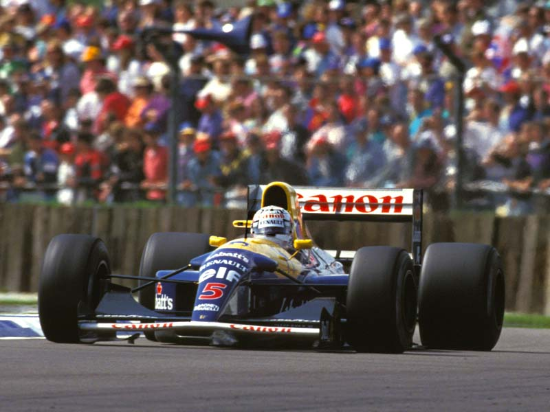 Mansell Mania took over the circuit in the late 80's and early 90's