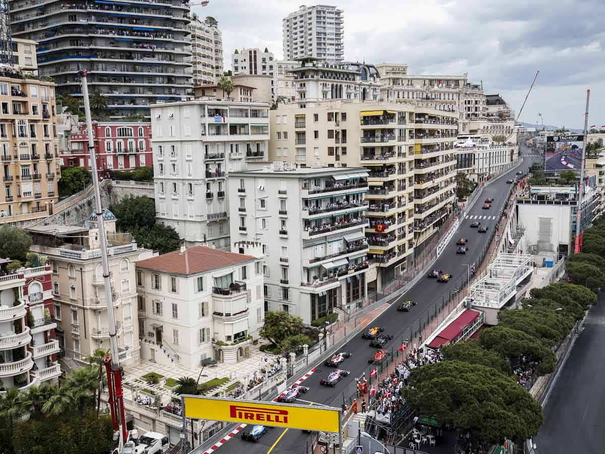 The streets of Monaco are transformed for weeks every year for the famous race