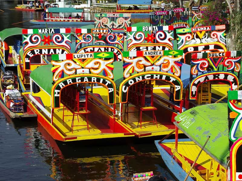 The colourful Xochimilco distract is known for its waterways