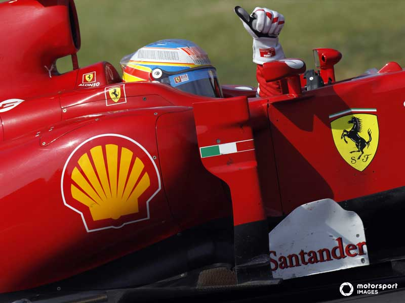 Alonso took Ferrari's last Monza win in 2010