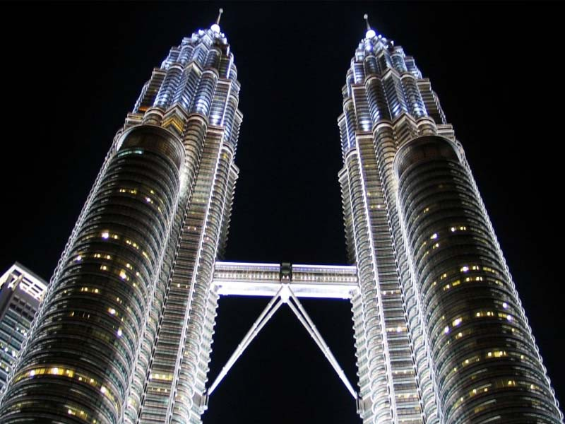 The Petronas Twin Towers dominate the skyline