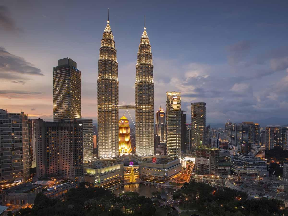 The Petronas Towers dominate KL's skyline