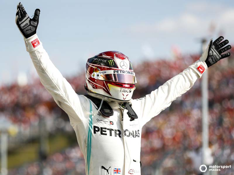Hamilton enjoyed a spectaculor win in Hungary