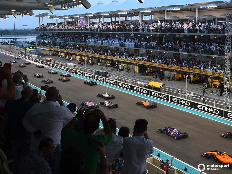 The season ending Abu Dhabi Grand Prix in the calendars only twilight race