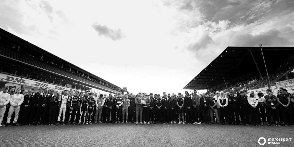 The motorsport community came together to honour Anthoine Hubert, who tragically lost his life racing in Belgium