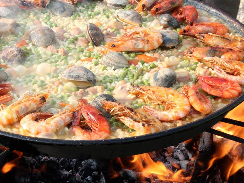 Paella is a traditional dish