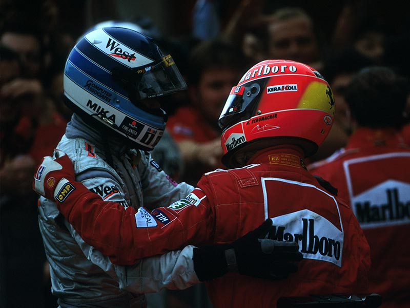 Hakkinen and Schumacher sparred majestically in 2000