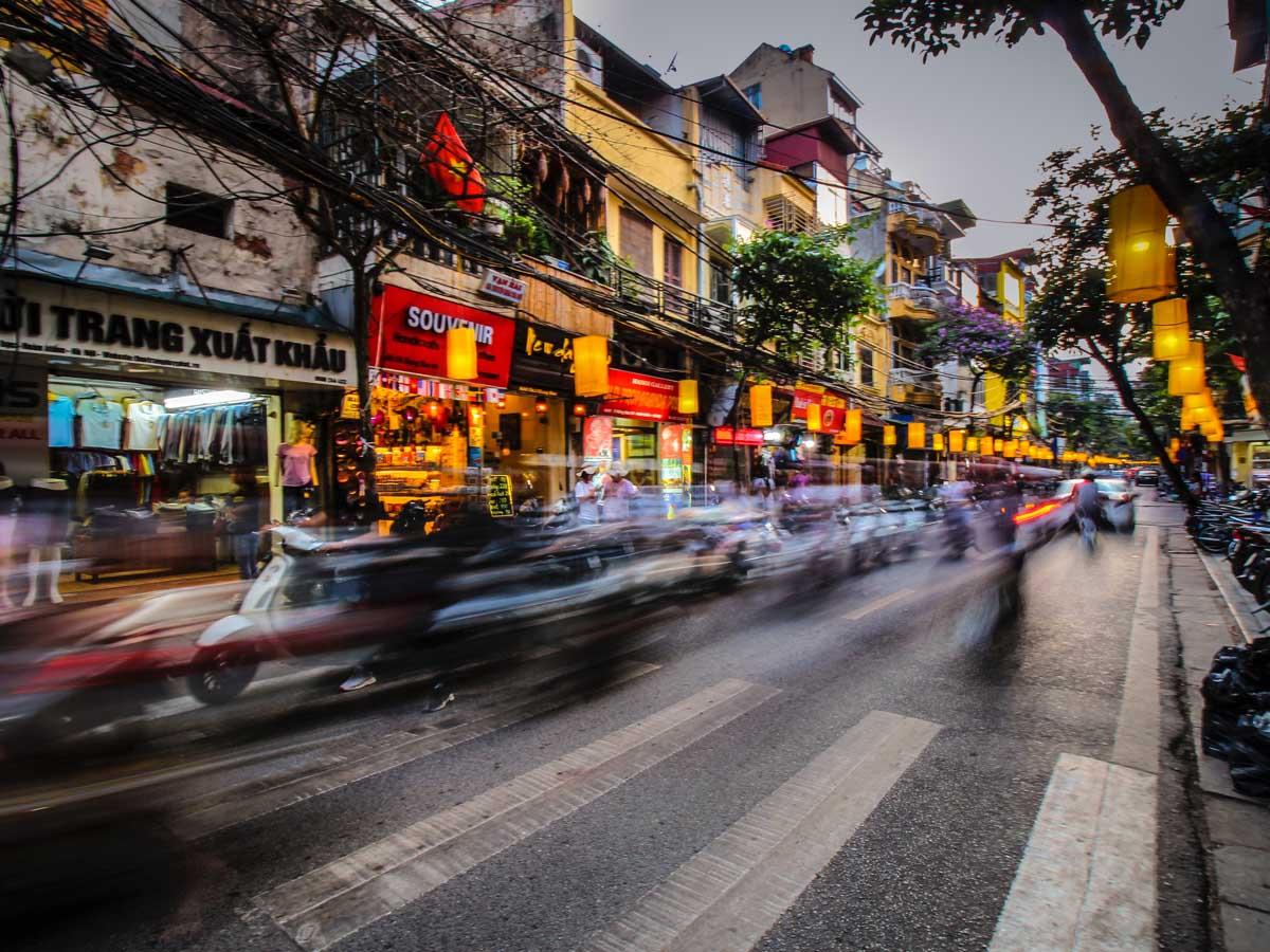 Hanoi is Vietnam's bustling capital