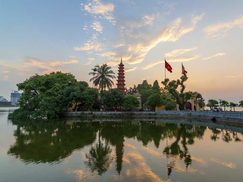 The Tran Quoc Pagoda is a beacon of tranquility
