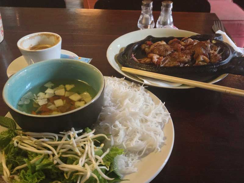 An example of typical Vietnamese food