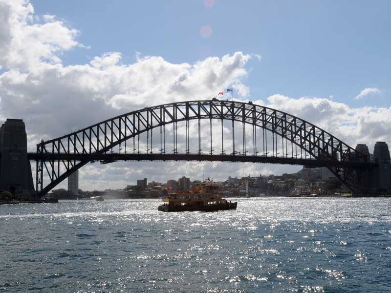 The Harbour Bridge is Sydney's famous backdrop