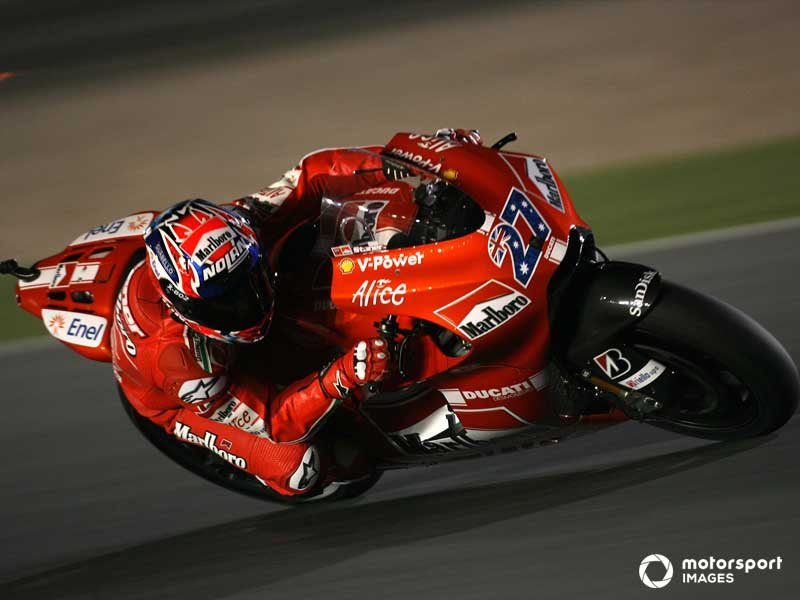 Stoner claimed a hat-trick for Ducati in the late 2000s