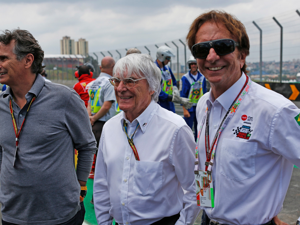 Bernie Ecclestone, with Nelson Piquet and Emerson Fittipaldi
