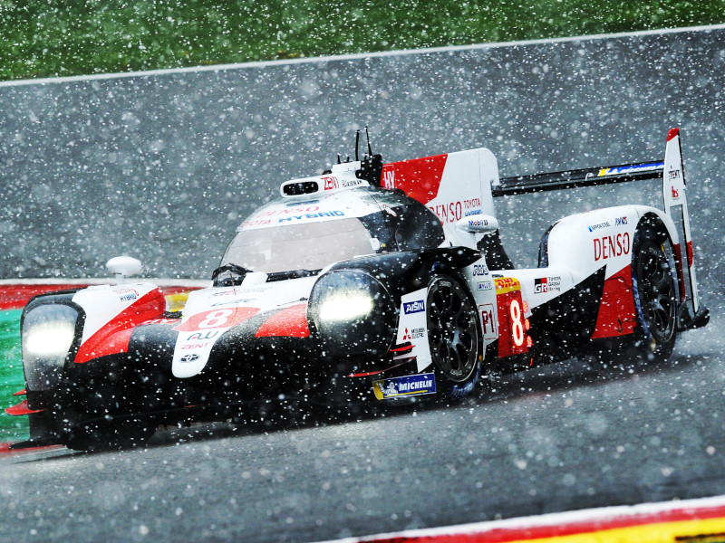 It was a snowy affair at Spa-Francorchamps in WEC