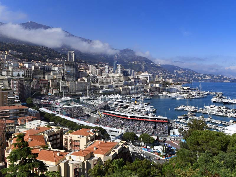 The city of Monaco, Monte Carlo, on Grand Prix Weekend
