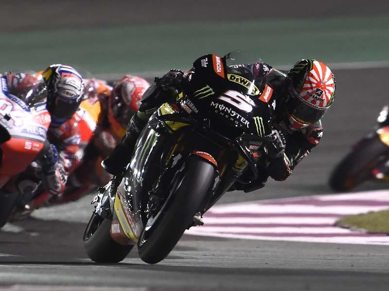 Johann Zarco under the lights in Qatar