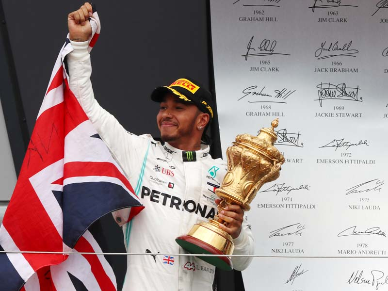 Hamilton was on top at Silverstone…