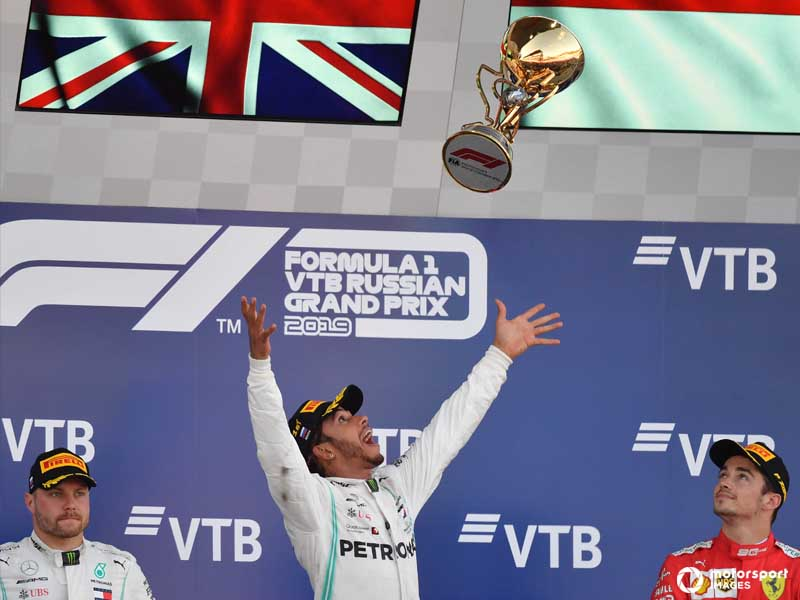 Som good luck and strategy helped Hamilton come out on top in Russia