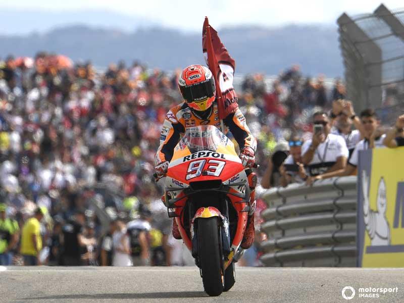 Marquez en route to his eight MotoGP Championship